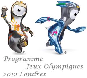 Calendrier des épreuves Jeux Olympiques d'été 2012