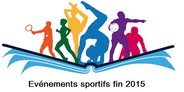 événements sportifs fin 2015