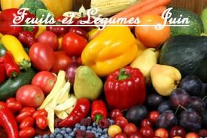 Fruits et Légumes Juin Calendrier